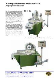 Bandagiermaschinen der Serie BD 50 Taping machine series