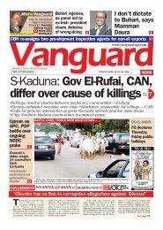 29072020 - S-Kaduna: Gov El-Rufai, CAN, differ over cause of killings
