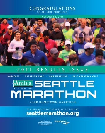 results issue 2011 - Seattle Marathon