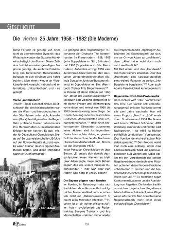 1958-1982 - Bayerischer Ruderverband