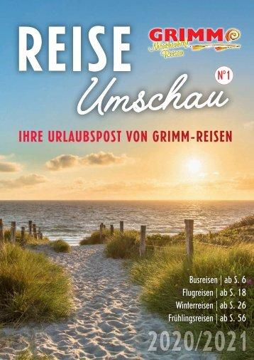 GRIMM REISE Umschau N°1 2020/2021 - Juli 2020