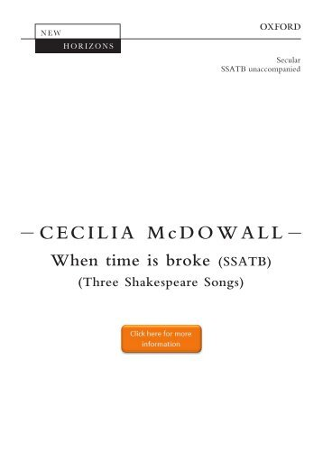 Cecilia McDowall When time is broke SSATB