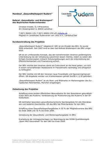 Entwurf - Bayerischer Ruderverband
