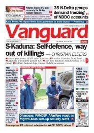 30072020 - S-Kaduna: Self-defence, way out of killings — CHRISTIAN ELDERS