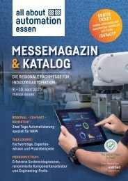 Messemagazin & Katalog | all about automation essen