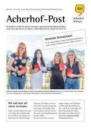 Acherhof-Post Nr. 13   31. Juli 2020