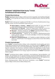 PRODUKT SPEZIFIKATION RuDex R1038 Schießstand ...
