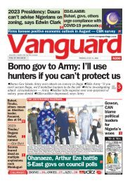 31072020 - Borno gov to Army: I'll use hunters if you can't protect us