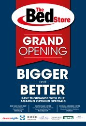 The Bed Store Grand Opening Catalogue