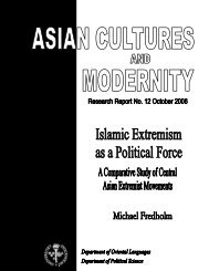 Islamic Extremism as a Political Force - The European Geopolitical ...