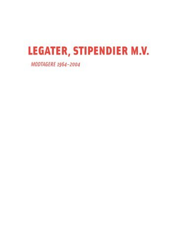 MODTAGERE 1964–2004 - Statens Kunstfond