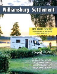 Williamsburg Settlement August 2020