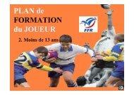 PLAN DE FORMATION - MOINS DE 13 ANS - Tome 2