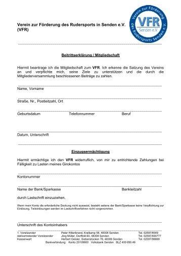 Verein zur Förderung des Rudersports in Senden e.V. (VFR)
