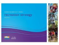 Recreation Strategy Final Vol 2 - Palmerston North City Council
