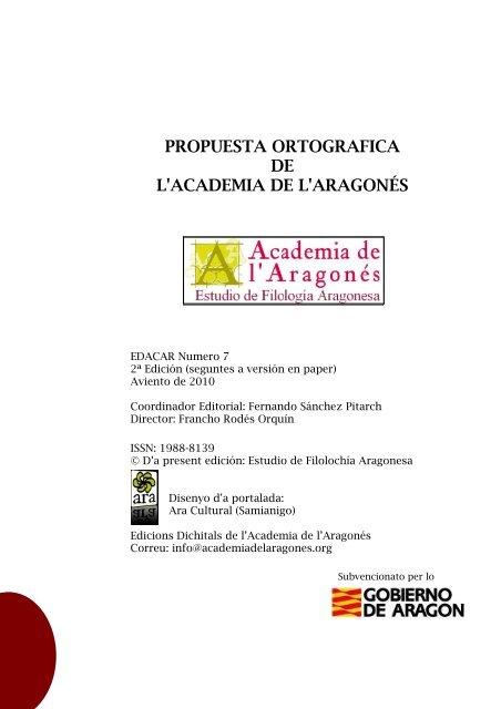 prologo - Academia de l'Aragonés