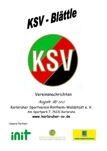 Besondere Beratung und Lieferservice sind für uns ... - Karlsruher SV