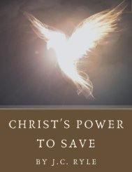 Christ's Power to Save by J.C. Ryle