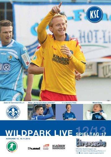 Stadionzeitung 17. Spieltag (KSC - Darmstadt 98 ... - Karlsruher SC