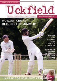 Uckfield Matters Magazine summer 2020