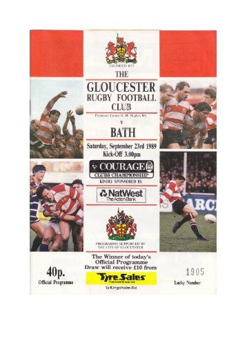Bath - Gloucester Rugby Heritage