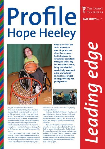 Hope Heeley - The Lords Taverners