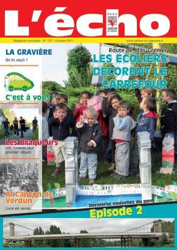 Octobre 2011 - Magazine municipal - N° 137 - Verdun sur Garonne
