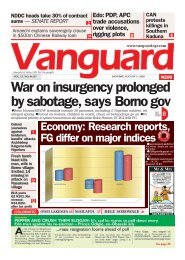 03082020 - War on insurgency prolonged by sabotage, says Borno gov