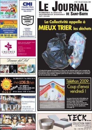 MIEUX TRIER les déchets - Journal de Saint-Barth