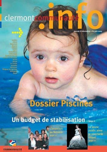 infojournal d'information - n°4 juin 2003 - Clermont Communauté