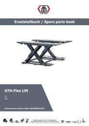 ATH-Heinl ERSATZTEILBUCH SPARE PARTS BOOK Flex Lift 30 30Z