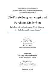 Die Darstellung von Angst und Furcht im Kinderfilm - Wolfgang Ruge