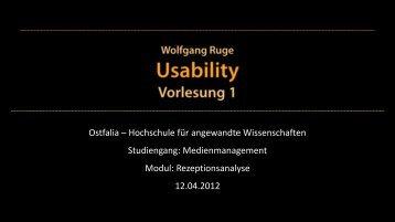 Definitionen und Grundlagen 2. Information ... - Wolfgang Ruge