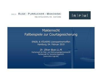 Maklerrecht - Fallbeispiele zur Courtagesicherung