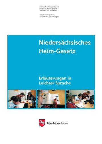 Niedersächsischen Heimgesetzes in leichter Sprache