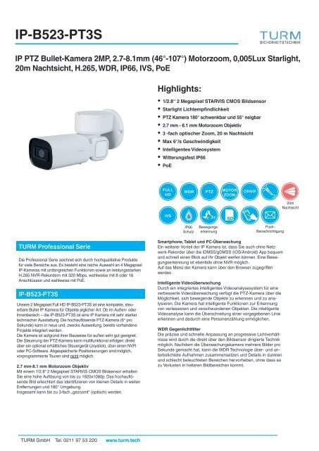 IP-B523-PT3S Datenblatt