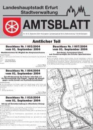 Amtsblatt Nr. 18 vom 21.9.2004 - Erfurt