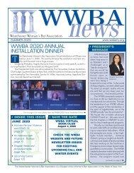 WWBA Summer 2020 Newsletter - M