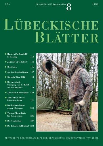 1937: Das Ende des eigenständigen Lübecker Staats?