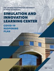 GW Nursing Simulation Reopening Plan