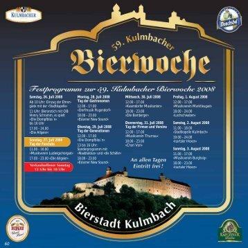 Mittwoch, 30. Juli 2008 12.00 - 17.00 ... - Kulmbacher Land