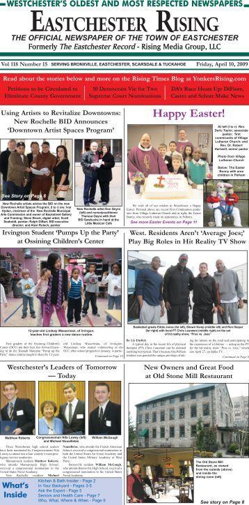 eastchester rising - friday, april 10, 2009 - Rising Media Group, LLC