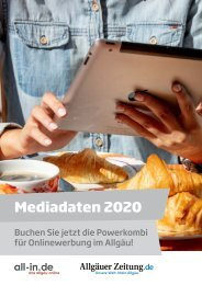 Mediadaten Powerkombi 2020: all-in.de und allgäuer-zeitung.de