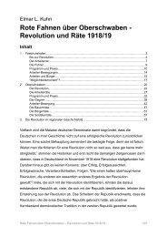 Revolution und Räte 1918/19 Inhalt