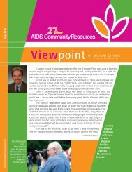 Viewpoint - AIDS Community Resources