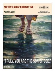 Nineteenth Sunday in Ordinary Time