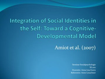 Rocca & Brewer (2002): social identity complexity model