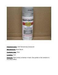 Rustoleum cold galvanizing compound