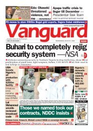 05082020 - Buhari to completely rejig security system —NSA