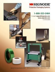 Signode Packaging Systems Sales catalog of protective packaging ...